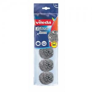 Vileda Inox Dish Washing Metallic Spiral Scourer 5Pcs