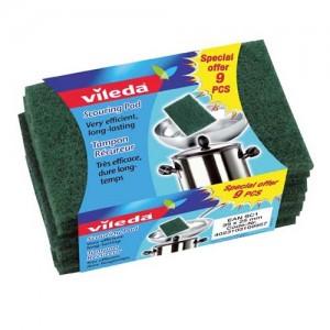 Vileda Dish Washing Scourer / Scouring Pad 9Pcs