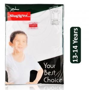 Sluggen Cotton Under Shirt - White, 13-14 Years