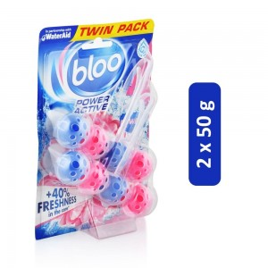 Bloo Power Active Flowers Toilet Rim Block - 2 x 50 g