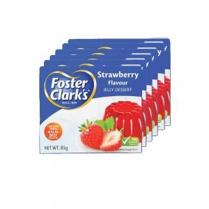 Foster Clark's Strawberry Jelly Dessert - 6 x 85 g
