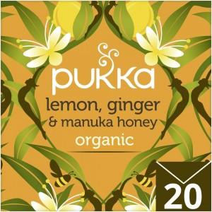 Pukka Organic Lemon, Ginger & Manuka Honey Herbal Tea - 40 g
