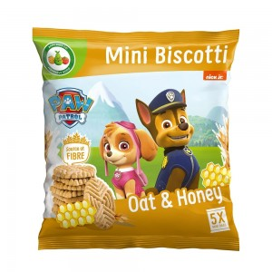 Appy Kids Co Paw Patrol Oat And Honey Biscotti 100g