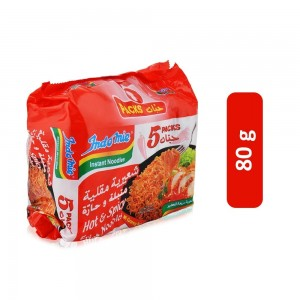 Indomie Hot And Spicy Fried Noodles - 5 x 80 g