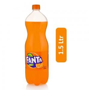 Fanta Orange Flavor Carbonated Soft Drink - 1.5 Ltr