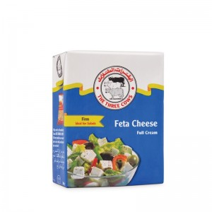 The Three Cows TTC Firm Feta Cheese Blue Block 200g