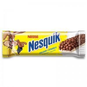 Nestle Nesquik Chocolate Breakfast Cereal Bar 25g