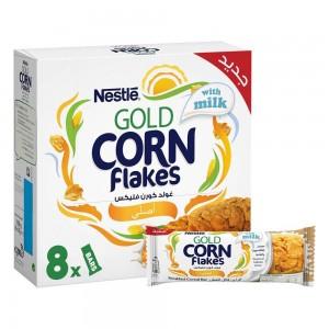 NESTLE GOLD CORNFLAKES Original Cereal Bar 8x20g