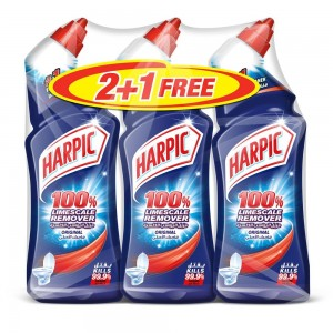 Harpic Liquid Toilet Cleaner - Limescale Remover Orginal, 3 Packs of 750ml