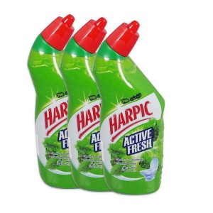 Harpic Active Liquid Toilet Cleaner - Pine, 3 Packs of 750ml