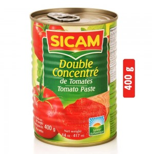 Sicam Double Concentrate Tomato Paste - 400 g
