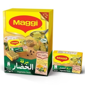 Maggi Vegetable With Olive Oil Stock Bouillon 20g, 24 Pcs