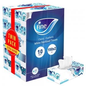 Fine Facial Tissue 2x5x150'S 2Ply