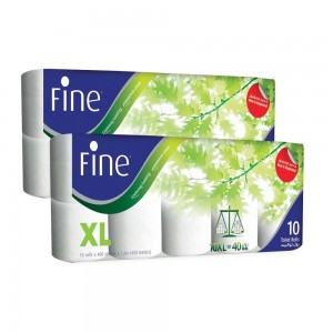 Fine Toilet Tissue 400 Sheets 2 Plies + Twin Pack Migration
