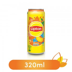 Lipton Liquid Peach Non-Carbonated Iced Tea Drink Can - 320ml
