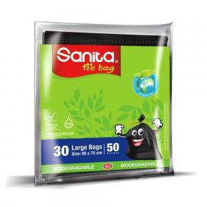 SANITA TIE BAGS 50 Gallons, 30 BAGS