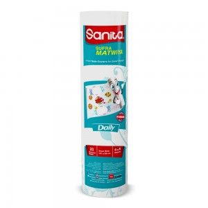 SANITA SUFRA MATWIYA TABLE COVER DISPOSABLE SMALL 20 SHEETS-SHEET SIZE( 85CMX107CM)