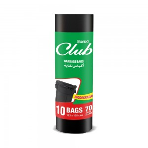 SANITA CLUB GARBAGE BAGS BIODEGRADABLE 70 GALLONS 10 BAGS