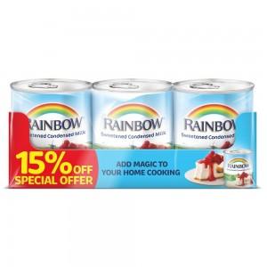Rainbow Sweetened Condensed Milk 397gm 3 pack 15% off