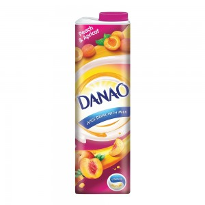 Danao, Juice Drink with Milk, Peach & Apricot, 1L