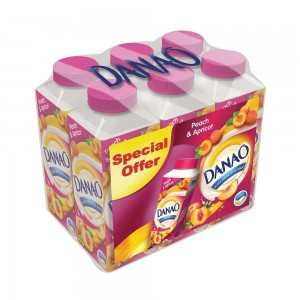 Danao, Juice Drink with Milk, Peach & Apricot, 180ml x 6 pack