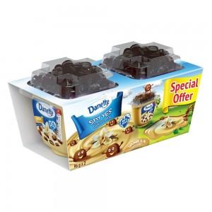 Danette, Dessert, Vanilla Flavour with biscuit topper, 96g