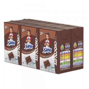 Safio, UHT Milk, Chocolate Flavor, 125ml x 6 pack