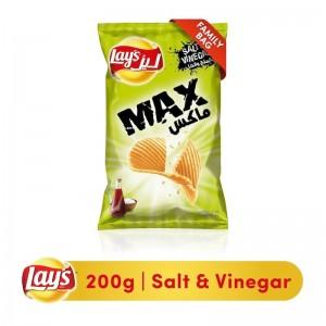 Lays Max Salt & Vinegar Potato Chips, 200g