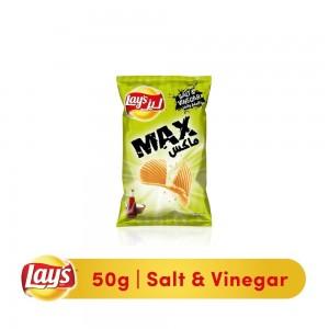 Lays Max Salt & Vinegar Potato Chips, 50g