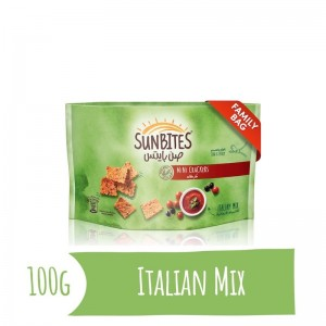 Sunbites Italian Mix Mini Crackers, 100g