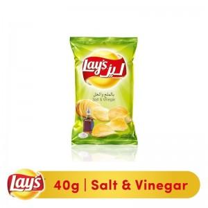 Lays Salt & Vinegar Potato Chips, 40g
