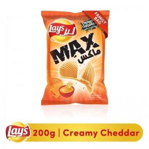 Lays Max Creamy Cheddar Potato Chips, 200g
