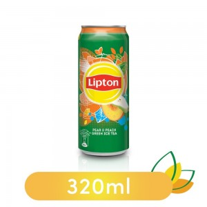 Lipton Ice Tea Pear and Peach, Non-carbonated Iced Tea Drink, Can, 320 ml