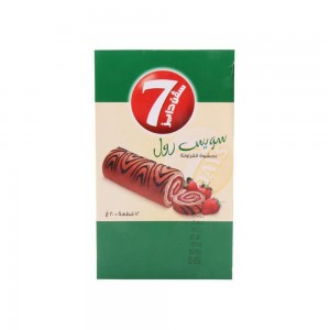 7-Days Swiss Roll Mini Strawberry 240gm (20gm X 12)
