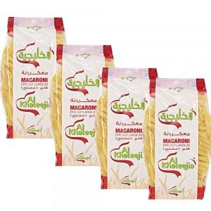 Al Khaleejia Pipecut Large Pasta - 400 gm x 4