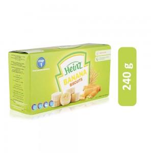 Heinz Banana Flavor Milk Based Biscuits - 6+ Months, 240 g