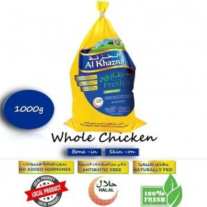 Al Khazna, Fresh Chicken, Whole, Bag, 1000g
