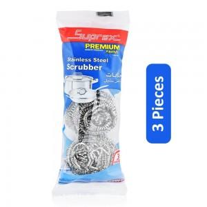 Super Premium Stainless Steel Scrubber - 3 Pieces