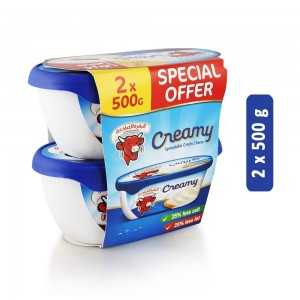 Lavache Quirit Spreadable Cream Cheese - 2 x 500 g