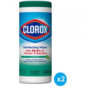 Clorox Disinfecting Wipes Fresh Scent, Bleach Free Cleaning Wipes - 35 Wipes Pack of 2 Pieces