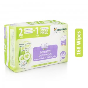 Himalaya Sensitive Baby Wipes - 168 Wipes
