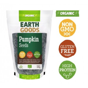 Earth Goods, Organic Pumpkin Seeds 340g