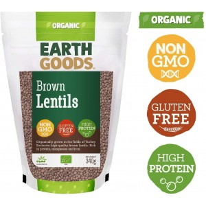 Earth Goods, Organic Brown Lentils 340g
