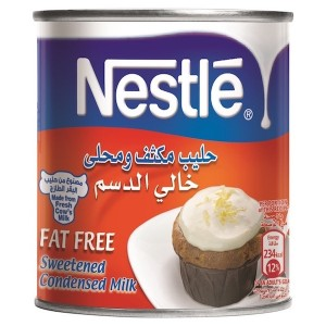 Nestle Sweetened Condensed Milk Fat Free 405g Can, 48 Pcs