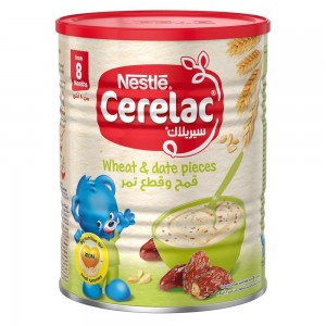 NESTLE CERELAC Infant Cereals with iRON+ WHEAT & DATE PIECES Baby Food 400g Tin