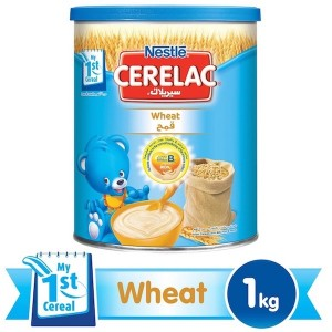 Nestle Cerelac From 6 Months, Wheat With Milk Infant Cereal 1Kg Tin, 12 Pcs