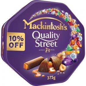 Mackintosh's Quality Street Chocolate 375g Tin at 10% Off