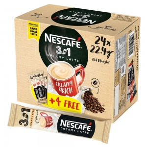 Nescafe Creamy Latte Coffee Mix Stick 22.4g (20+4 Sticks)