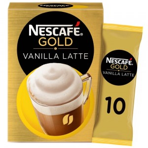 Nescafe Gold Cappuccino Vanilla Latte Coffee Mix 18.5g Sachet (10 Sachets)