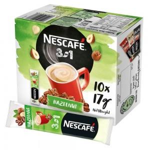 NESCAFÉ® 3in1 Hazelnut Coffee Mix Stick 17g (10 Sticks) Box